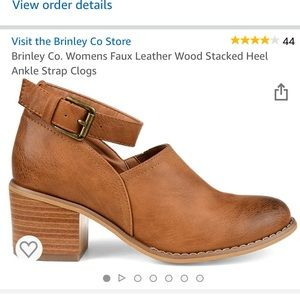 Stacked Heel, Ankle-Strap Clogs